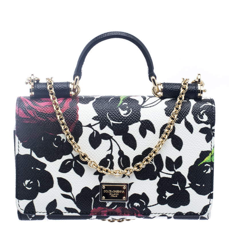90bca48a4dbb ... Dolce and Gabbana Multicolor Floral Print Leather Miss Sicily Von  Wallet on Chain. nextprev. prevnext