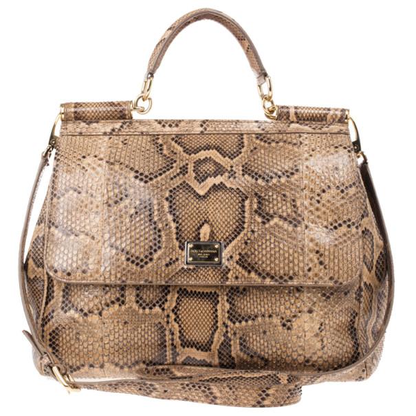 1d629d39a43d ... Dolce and Gabbana Gold Python Medium Miss Sicily Satchel. nextprev.  prevnext