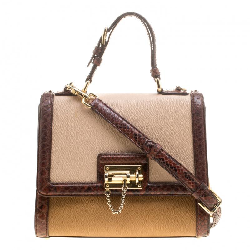 8a977479f9 ... Dolce and Gabbana Multicolor Leather and Python Trim Small Monica Bag.  nextprev. prevnext
