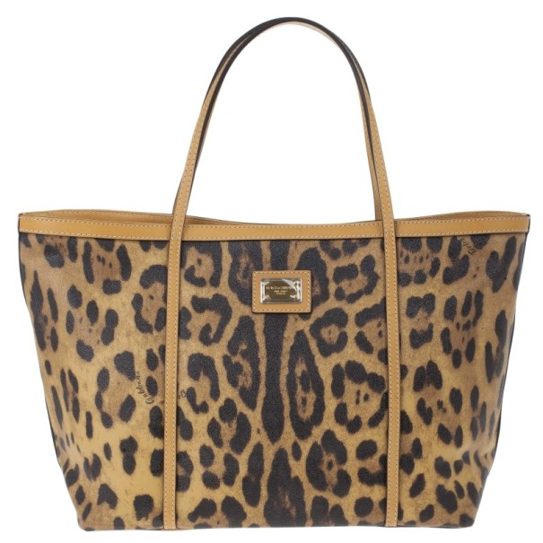 9495ea9f30 Buy Dolce and Gabbana Leopard Print Miss Escape Tote 14645 at best ...