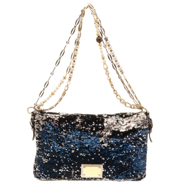 ff122b78b7 Buy Dolce and Gabbana Miss Charles Sequin Bag 18231 at best price