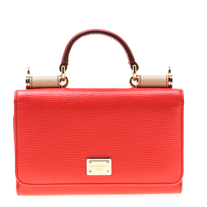 eecb2273191 ... Dolce and Gabbana Red/Red Leather Miss Sicily Von Smartphone Bag.  nextprev. prevnext