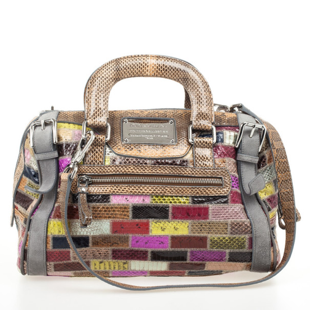 0aec5fc8fb Buy Dolce and Gabbana Miss Easy Way Ayers Snakeskin Patchwork ...