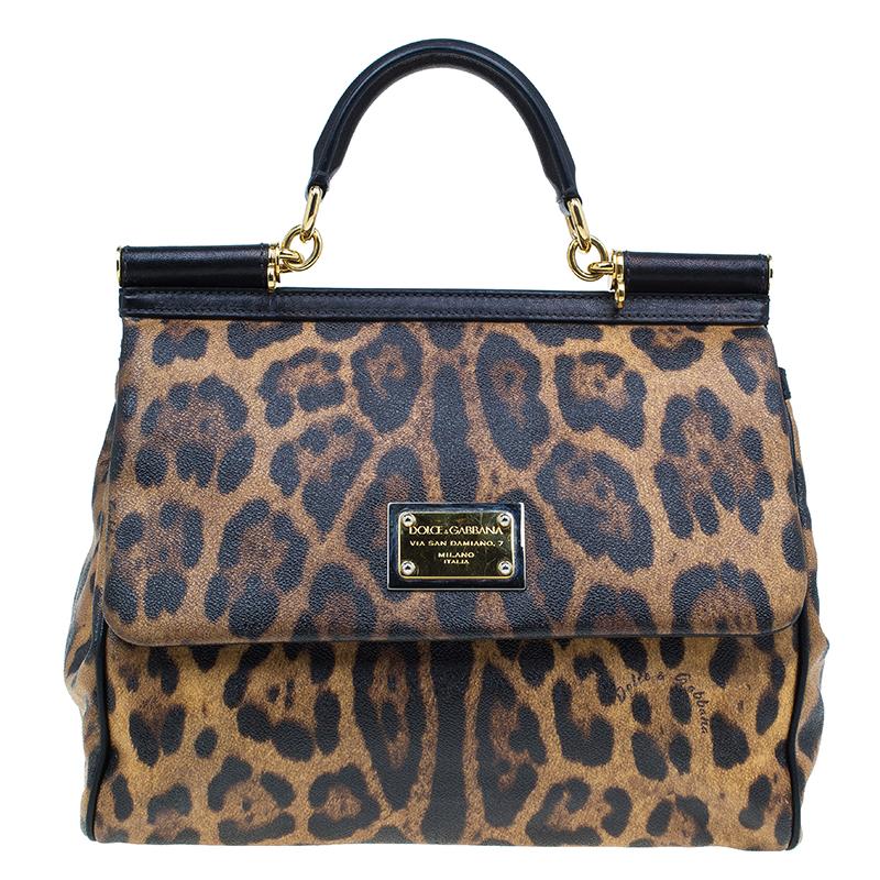 a02b7286ac ... Dolce and Gabbana Leopard Print Leather Miss Sicily Bag. nextprev.  prevnext