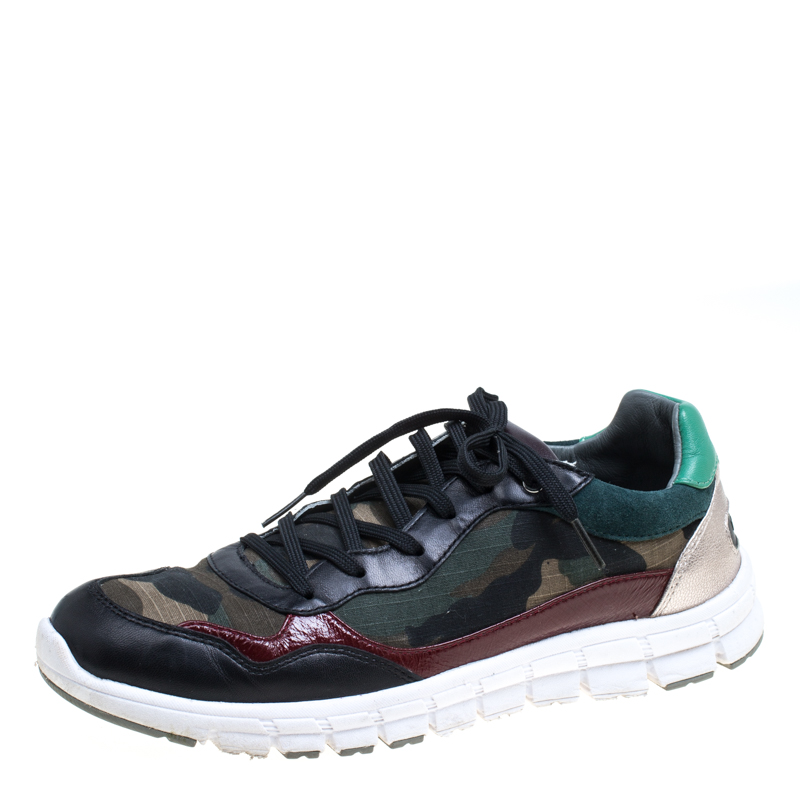 ff2e73243225f ... Dolce and Gabbana Multicolor Leather And Camouflage Canvas Sneakers  Size 39. nextprev. prevnext