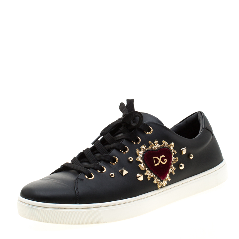 Dolce and Gabbana Black Leather Heart