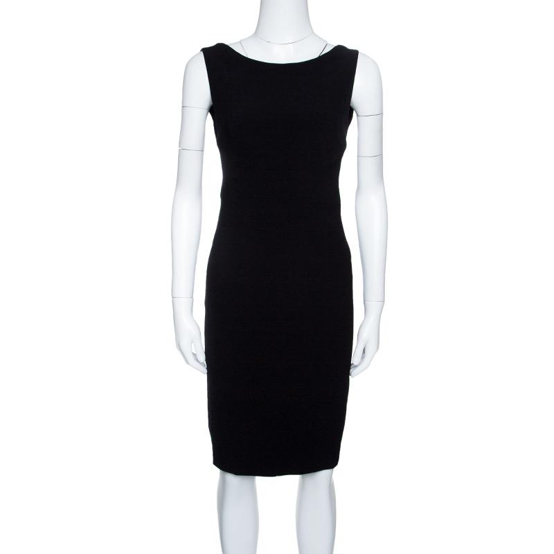 Buy Dsquared2 Black Sleeveless Sheath Dress S 143618 At Best Price Tlc