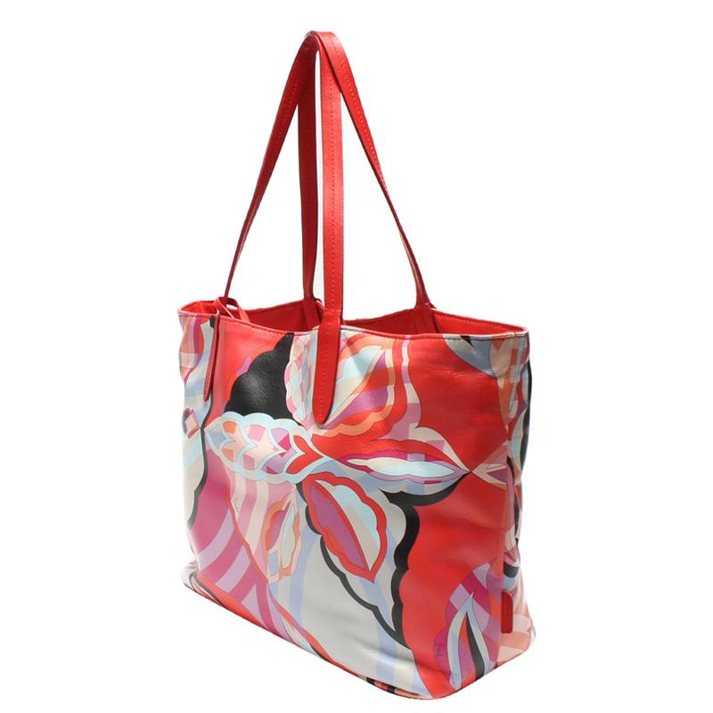 Emilio Pucci Floral Multicolore Sac Fourre-Tout