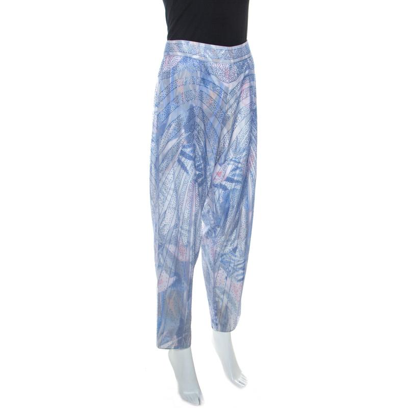 Emporio Armani Elite Bleu Cristal Orné Pantalon M
