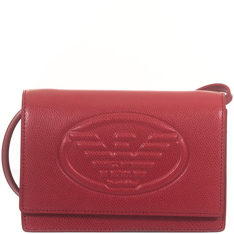 533139b159 Emporio Armani Red Leather Crossbody Bag