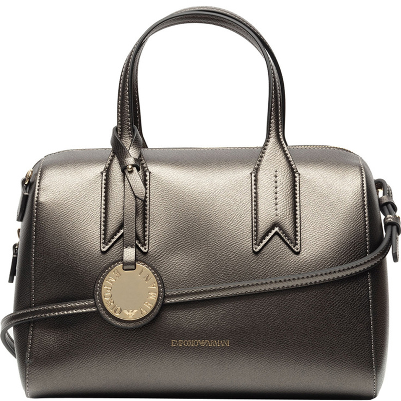 ... Emporio Armani Metallic Dark Grey Leather Bowling Satchel Bag. nextprev.  prevnext 555de1c97f6b4