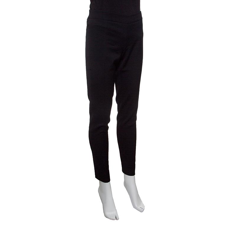Купить со скидкой Emporio Armani Black Wool Tailored Pants S