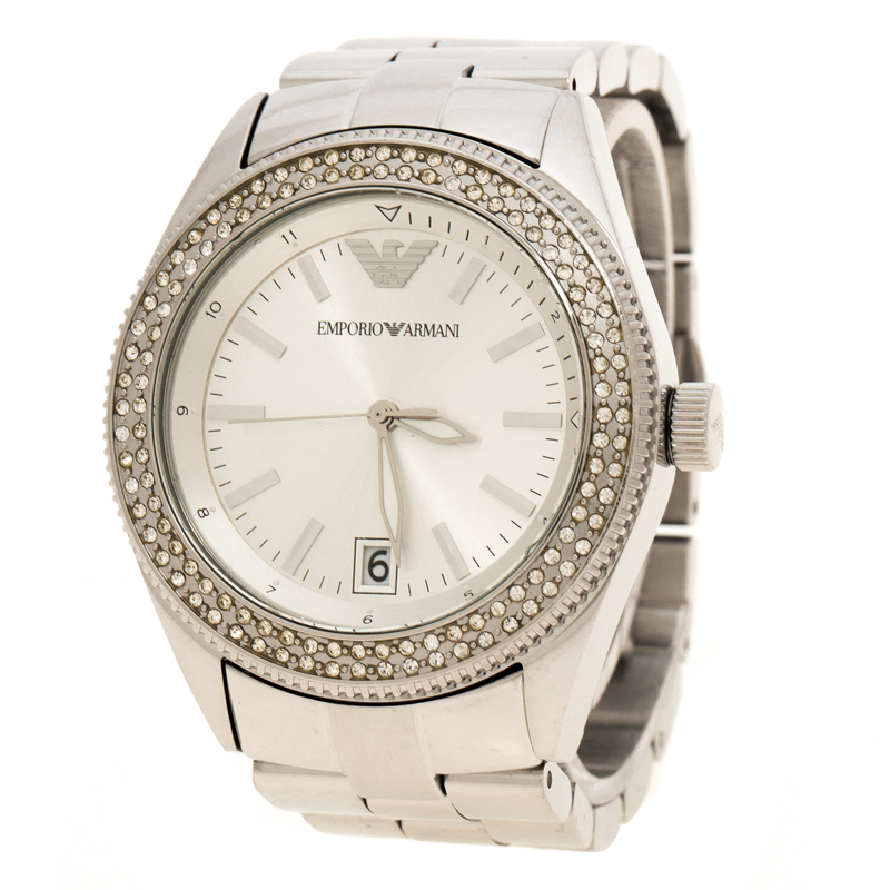 57250603ba Emporio Armani SIlver Stainless Steel & Crystal AR-5781 Women's Wristwatch  39mm