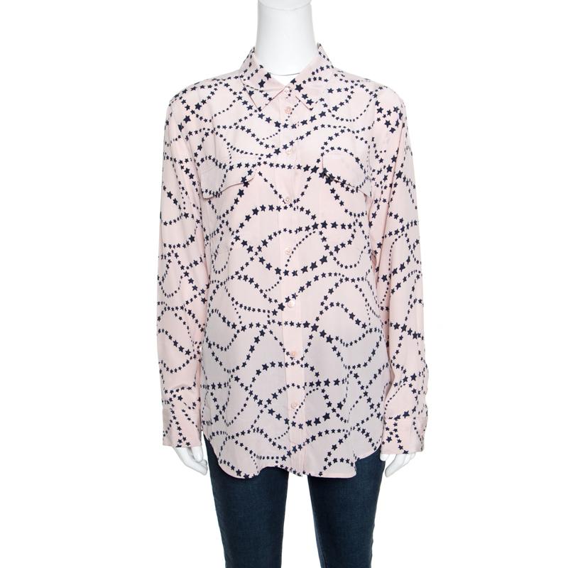 db64f2cc36186d ... Equipment Blush Pink Star Printed Silk Long Sleeve Blouse S. nextprev.  prevnext