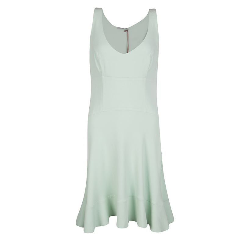 9c4fc6175355 Buy Ermanno Scervino Mint Green Sleeveless Fit and Flare Dress M ...