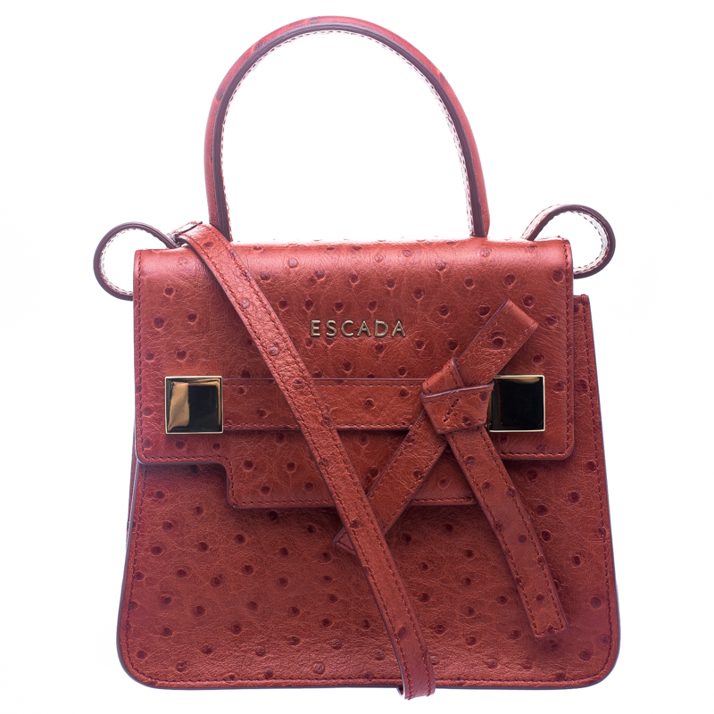 ... Escada Cherry Ostrich Embossed Leather Mini Top Handle Bag. nextprev.  prevnext 0815430bb9344