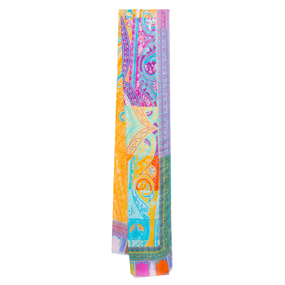 Pre-owned Etro Multicolor Paisley Printed Modal & Cashmere Stole