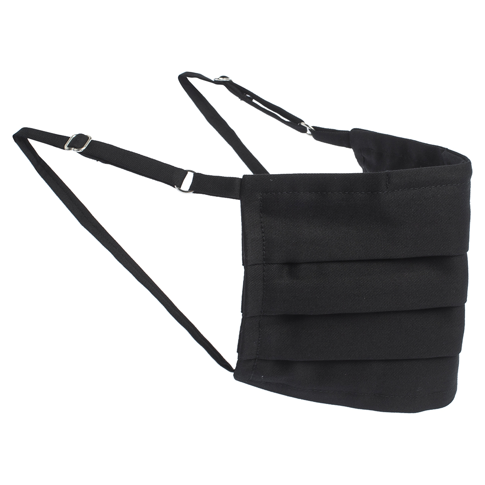 Collars & Cuffs Non-Medical Handmade Jet Black Face Mask (Available for UAE Customers Only)