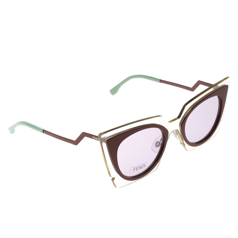 c0c4c5ca768 Buy Fendi Red Transparent FF 0117 S Cat Eye Sunglasses 131591 at ...