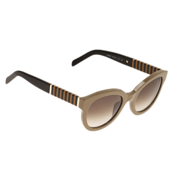 83bc5cee808 Buy Fendi Beige Pequin 5350 Round Sunglasses 5621 at best price