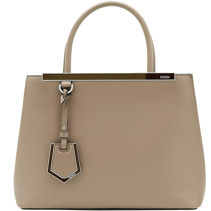 f4910384b001 Buy Fendi Dove-Grey Leather Petite 2Jours Tote 159903 at best price ...