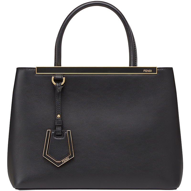 a176988e5c84 Buy Fendi Black Leather Petite 2Jours Tote 159904 at best price