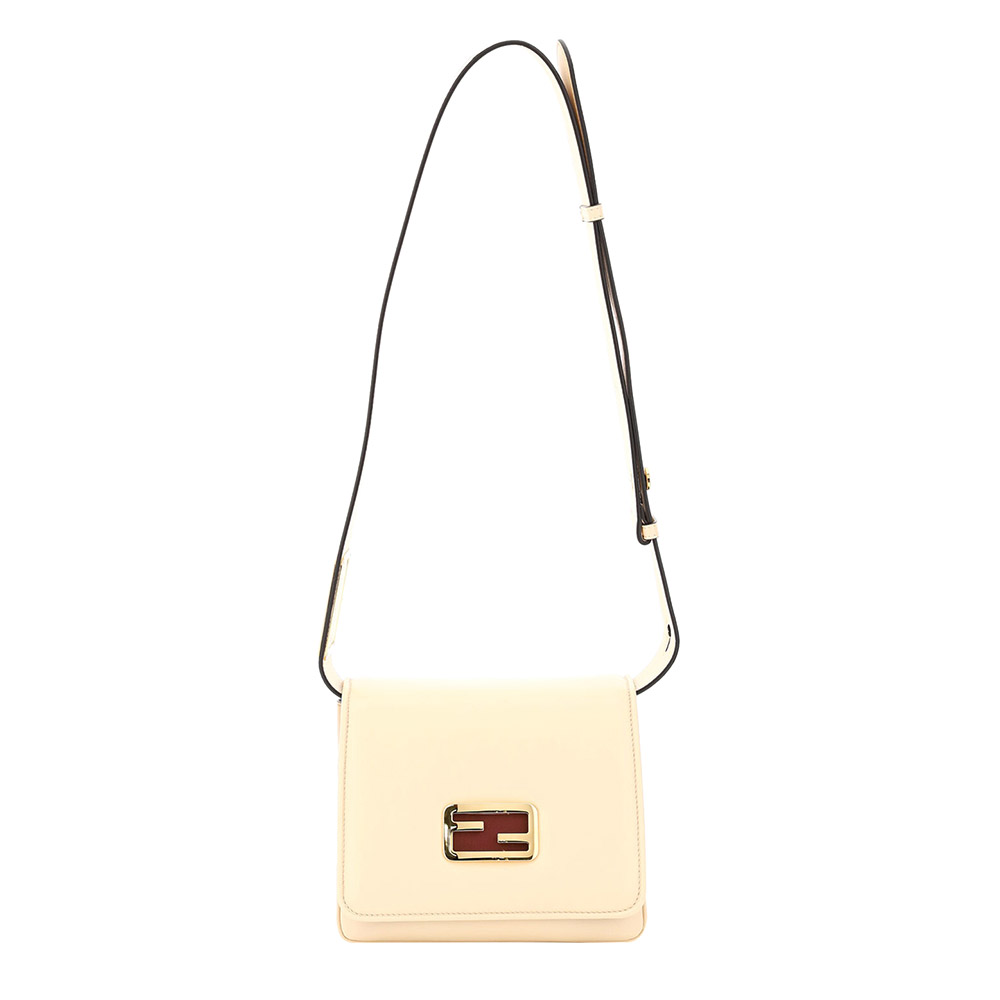 Fendi Beige Leather ID Small Shoulder Bag