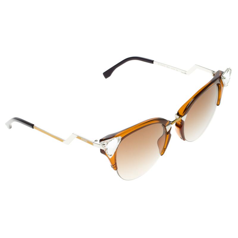 d91e308daa1d Buy Fendi Brown Multicolor FF 0041 S Iridia Sunglasses 102662 at ...