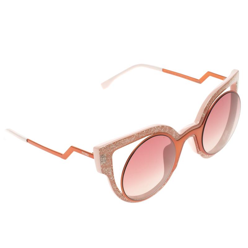 9ada19f5ad8f Buy Fendi Metallic Orange Pink FF 0137 S Glitter Paradeyes ...