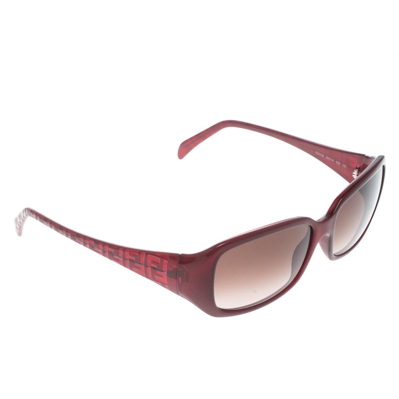 813a383f26f Buy Fendi Bordeaux Burgundy Gradient FS5146 Rectangle Sunglasses ...