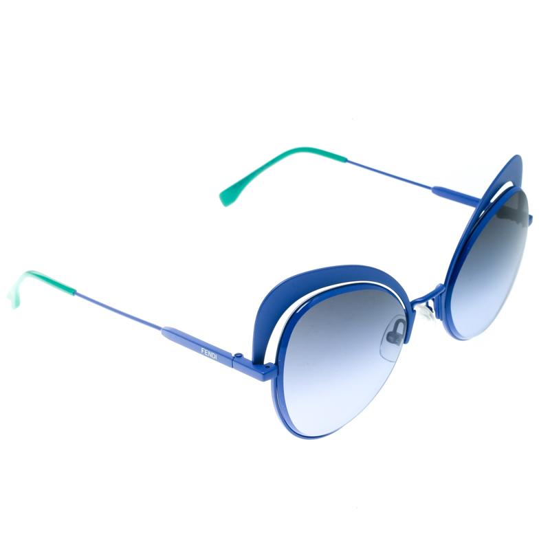 6df202727c Fendi Electric Blue/ Blue Gradient FF 0247/S Eyeshine Cateye Sunglasses