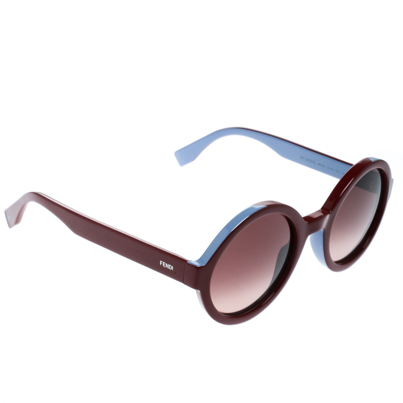 Bicolorbrown Fendi Gradient 0120s Sunglasses Round Ff wkP0On