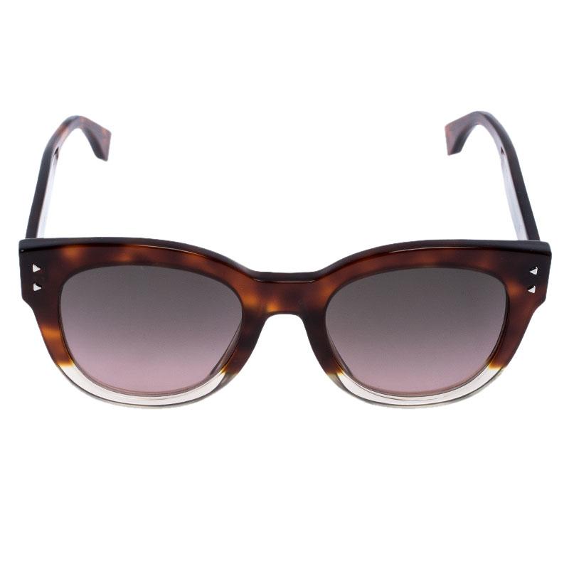 Fendi Marron Havane/ Bicolore Dégradé FF0239/S Cat Eye Lunettes de soleil