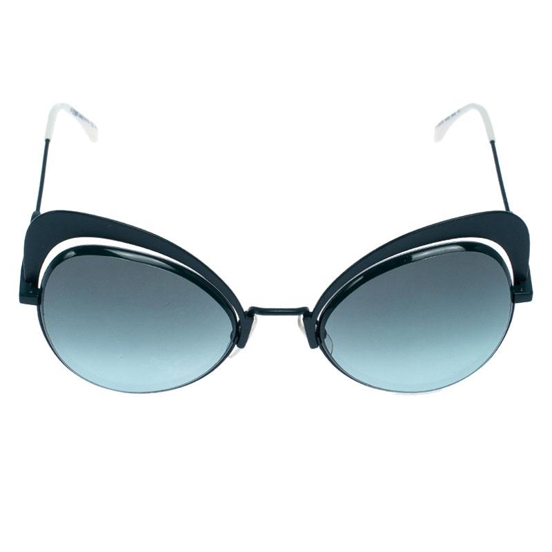 Fendi Mat vert/ Vert Dégradé FF 0247/S Eyeshine Cateye Lunettes de soleil