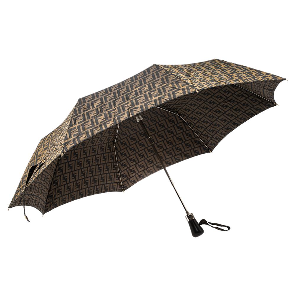 Fendi Brown Zucca Folding Umbrella