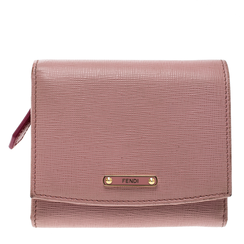 5d879a6d54d Buy Fendi Pink Leather Small Crayons Wallet 126017 at best price | TLC