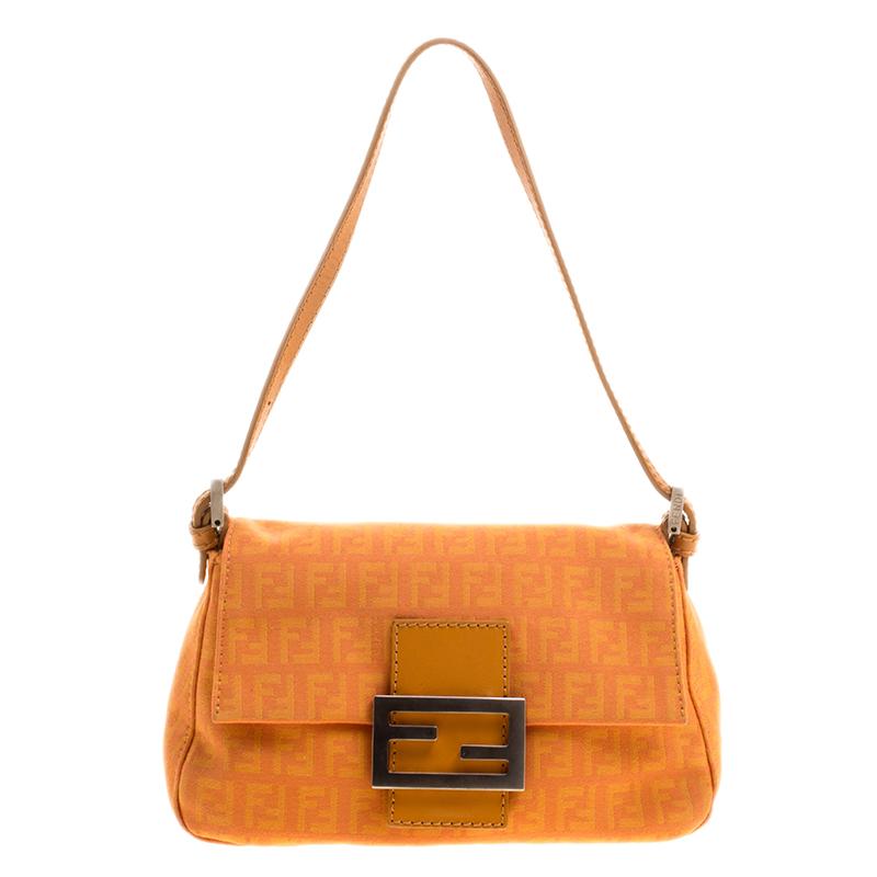 06243b0cd3a67 ... Fendi Orange Zucchino Canvas Mini Mama Baguette Bag. nextprev. prevnext