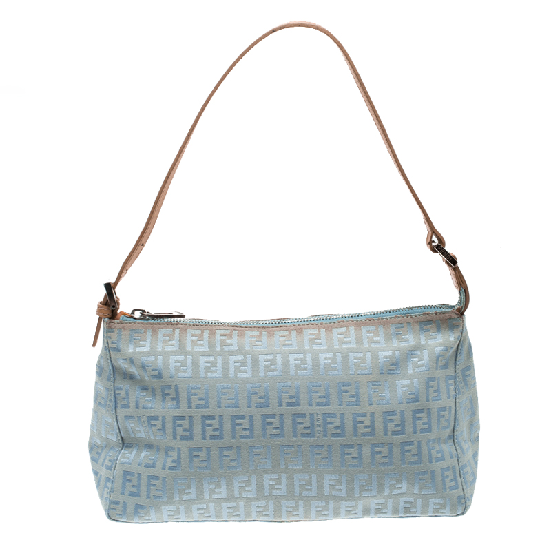 4a51569ea23 Buy Fendi Blue Zucchino Canvas Shoulder Bag 128974 at best price | TLC