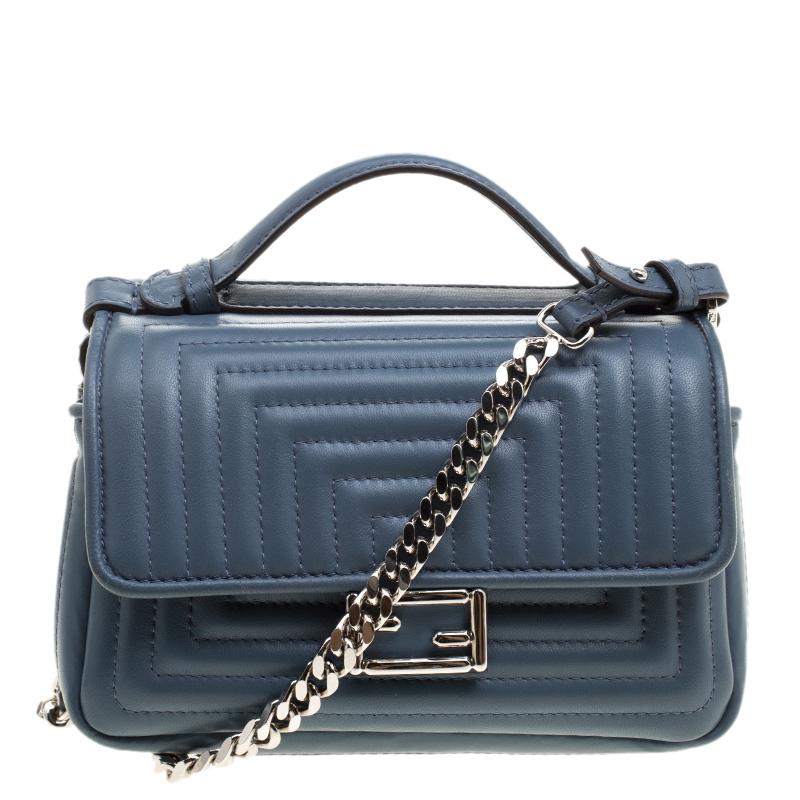 ... Fendi Stone Blue Quilted Leather Micro Double Baguette Bag. nextprev.  prevnext 01874c8270696
