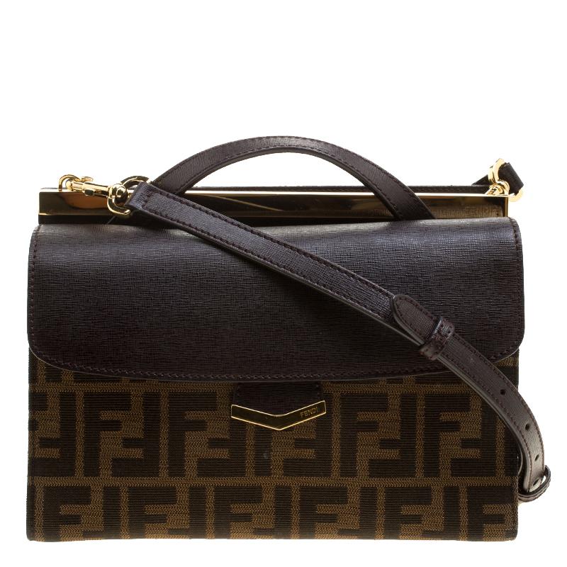 0f32d2f5cb07 ... Fendi Tobacco Zucca Canvas and Leather Demi Jour Shoulder Bag.  nextprev. prevnext