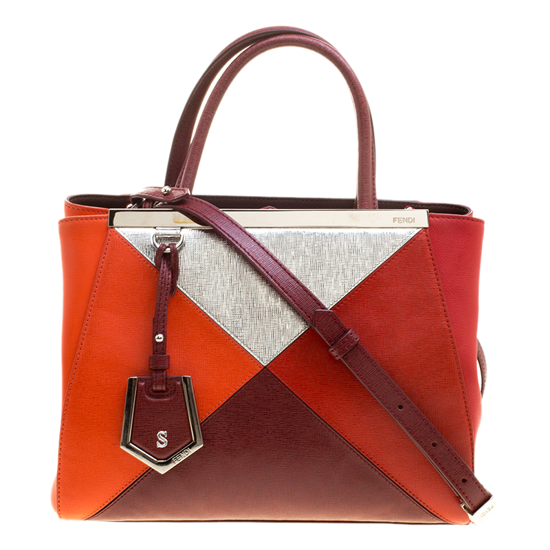 5f831cf82df5 ... Fendi Multicolor Leather Small Geometric 2jours Tote. nextprev. prevnext