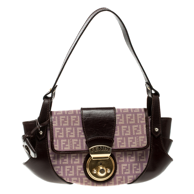 57779a8f63 ... Fendi Purple/Brown Zucchino Canvas and Leather Shoulder Bag. nextprev.  prevnext