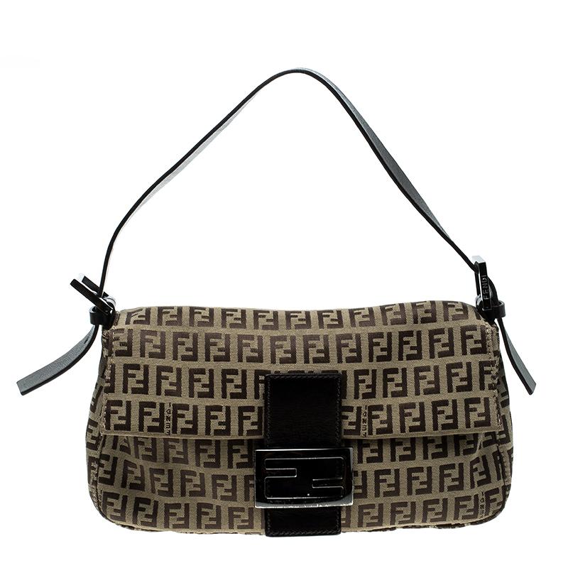 8f3a07d89503 ... Fendi Brown Zucchino Canvas Mama Baguette Shoulder Bag. nextprev.  prevnext