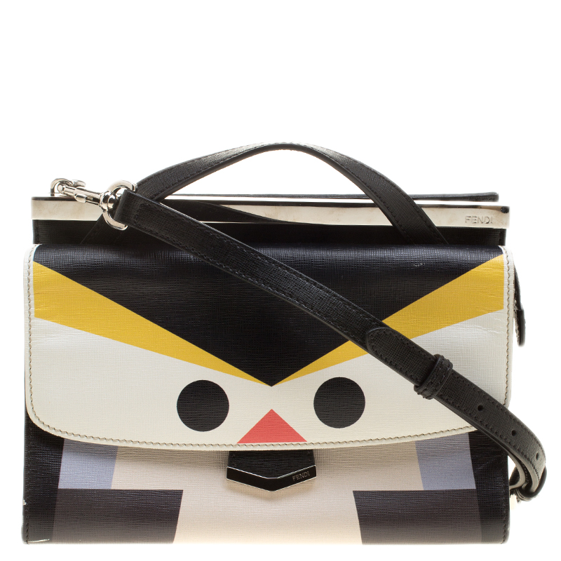 d1925b6ea11 ... Fendi Black Textured Leather Mini Demi Jour Penguin Shoulder Bag.  nextprev. prevnext