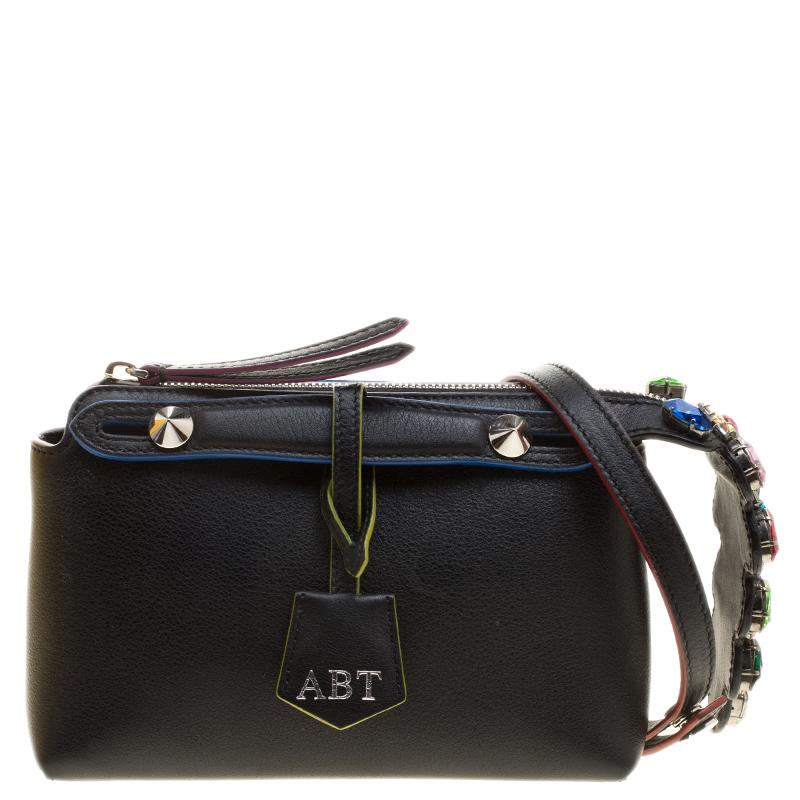 3a18a79b39f4 ... Fendi Black Leather Mini By The Way Crossbody Bag. nextprev. prevnext
