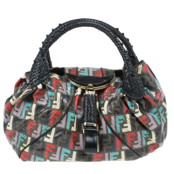 Buy Fendi Multicolor Coated Canvas Spy Bag 14212 at best price  b5aac9abd770b