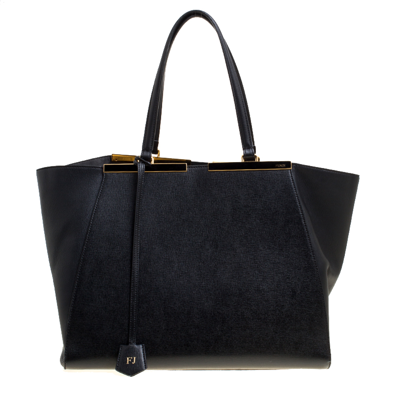 501a5407e0d0 Buy Fendi Black Leather 3Jours Tote 149401 at best price