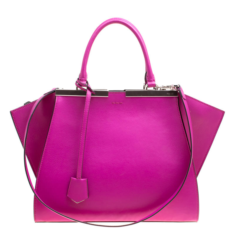 7d81e73084a Buy Fendi Hot Pink Leather 3Jours Tote 150598 at best price   TLC