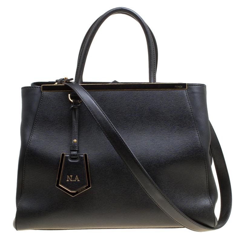 80f88d3cc3 ... Fendi Black Saffiano Leather 2Jours Top Handle Bag. nextprev. prevnext