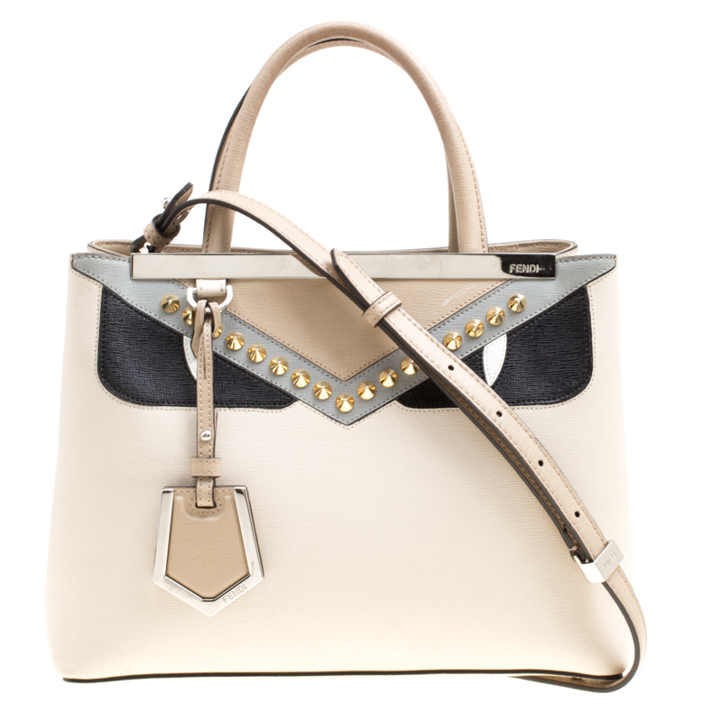 b7d84dd547f4 ... Fendi Beige Leather Petite 2Jours Monster Top Handle Bag. nextprev.  prevnext